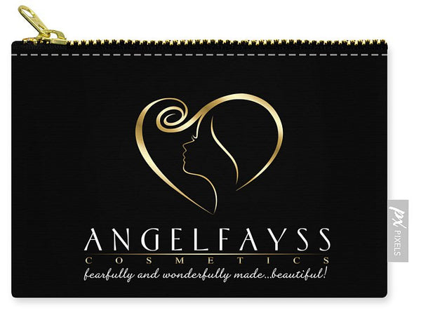 Gold & Black AngelFayss Carry-All Pouch