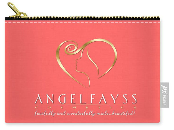 Gold & Coral AngelFayss Carry-All Pouch