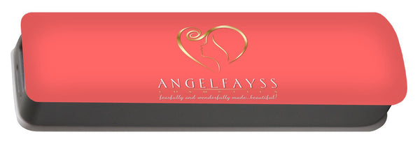 Gold & Coral AngelFayss Portable Battery Charger