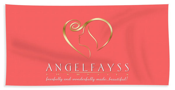 Gold & Coral AngelFayss Beach Towel