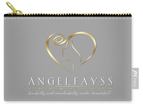 Gold & Grey AngelFayss Carry-All Pouch
