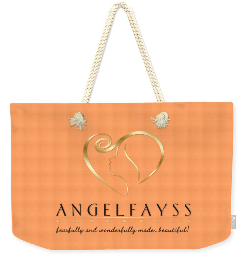 Gold, Black & Peach AngelFayss Weekender Tote Bag