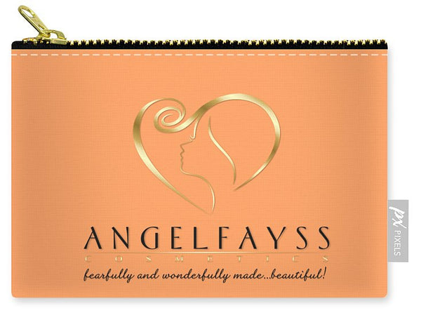 Gold, Black & Peach AngelFayss Carry-All Pouch