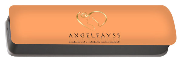 Gold, Black & Peach AngelFayss Portable Battery Charger