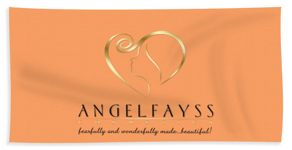 Gold, Black & Peach AngelFayss Beach Towel