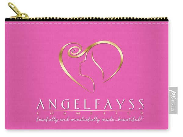 Gold & Light Pink AngelFayss Carry-All Pouch