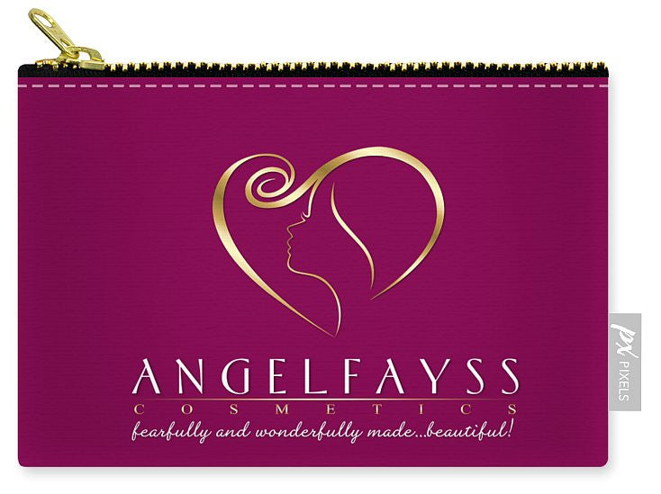 Gold & Magenta AngelFayss Carry-All Pouch