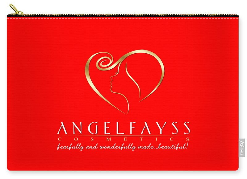 Gold & Red AngelFayss Carry-All Pouch