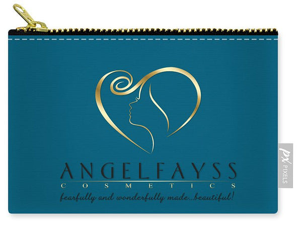 Gold, Black & Aqua AngelFayss Carry-All Pouch