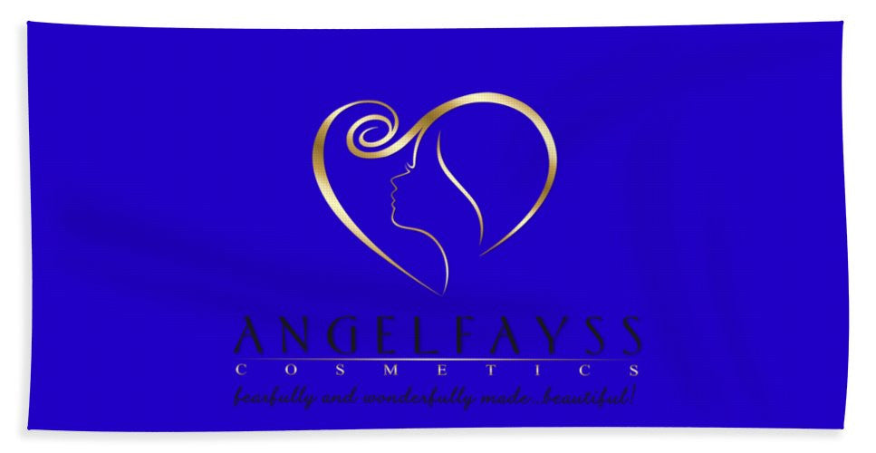 Gold, Black & Blue AngelFayss Beach Towel