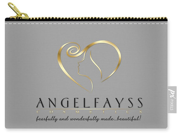 Gold, Black & Grey AngelFayss Carry-All Pouch