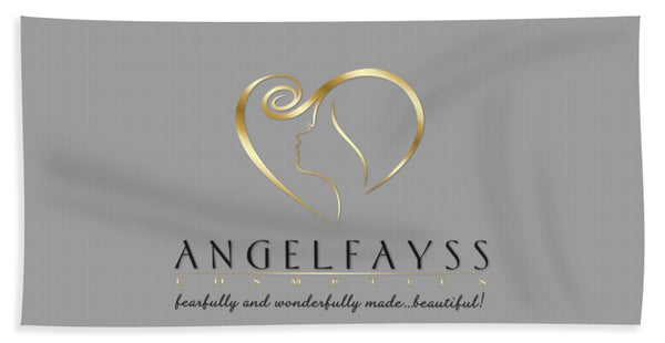Gold, Black & Grey AngelFayss Beach Towel