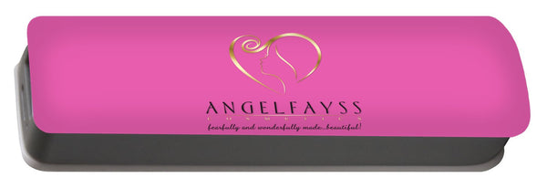 Gold, Black & Light Pink AngelFayss Portable Battery Charger