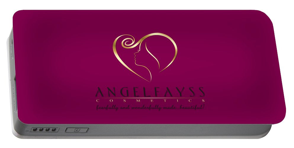 Gold, Black & Magenta AngelFayss Portable Battery Charger