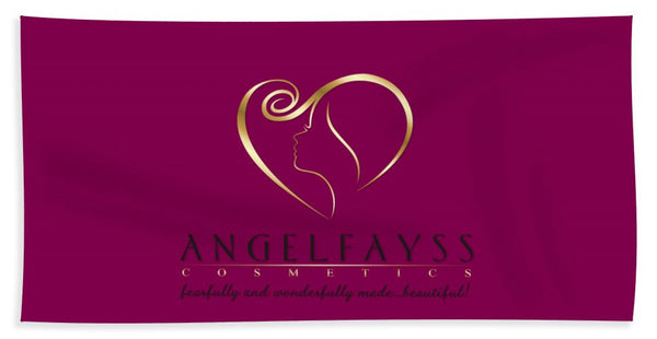 Gold, Black & Magenta AngelFayss Beach Towel
