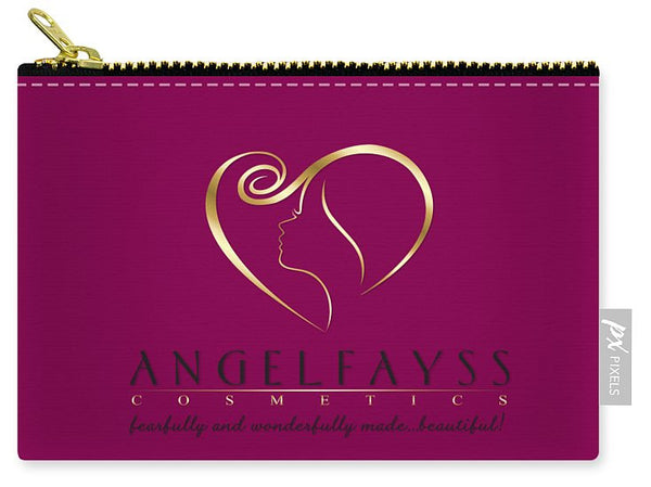 Gold, Black & Magenta AngelFayss Carry-All Pouch