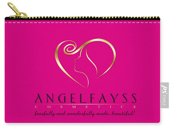 Gold, Black & Pink AngelFayss Carry-All Pouch