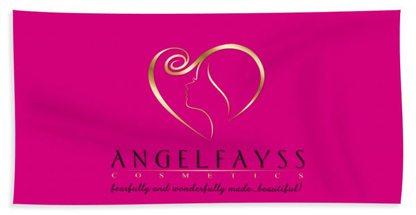 Gold, Black & Pink AngelFayss Beach Towel