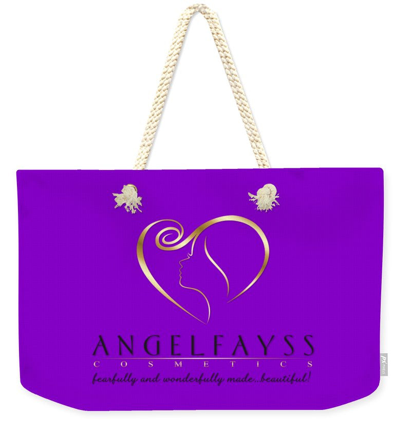Gold, Black & Purple AngelFayss Weekender Tote Bag