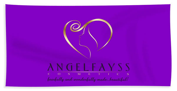 Gold, Black & Purple AngelFayss Beach Towel