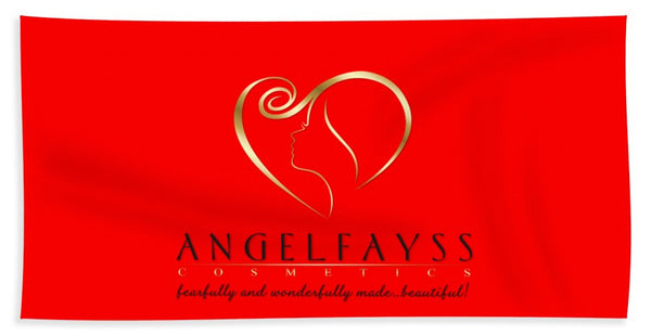 Gold, Black & Red AngelFayss Beach Towel