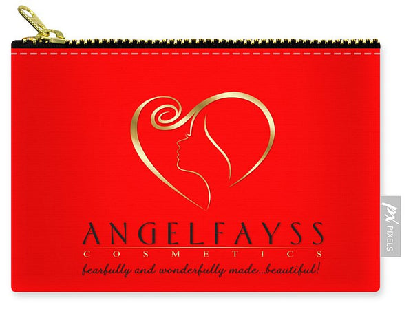 Gold, Black & Red AngelFayss Carry-All Pouch