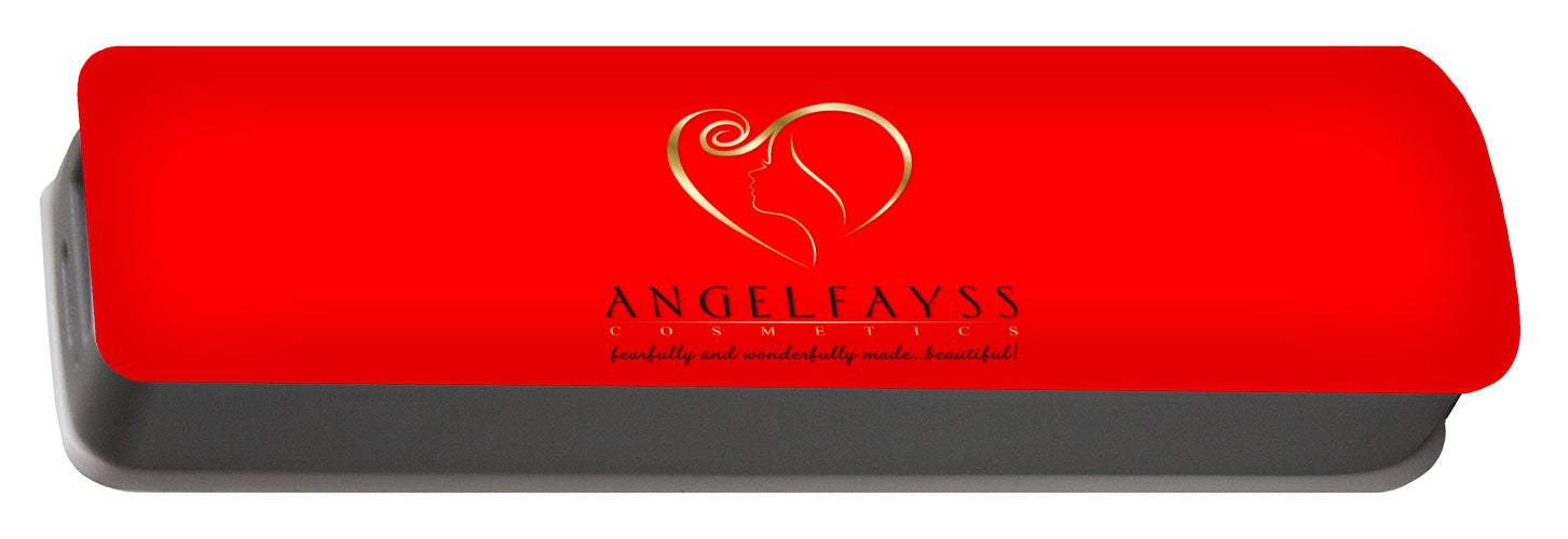 Gold, Black & Red AngelFayss Portable Battery Charger