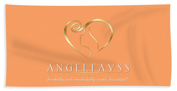 Gold, White & Peach AngelFayss Beach Towel