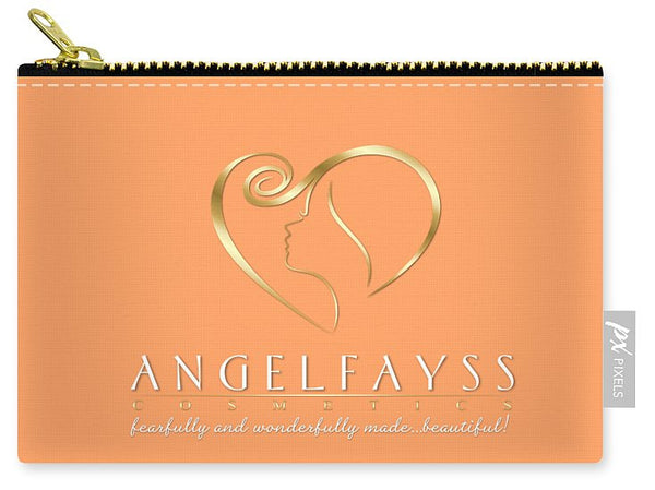 Gold, White & Peach AngelFayss Carry-All Pouch