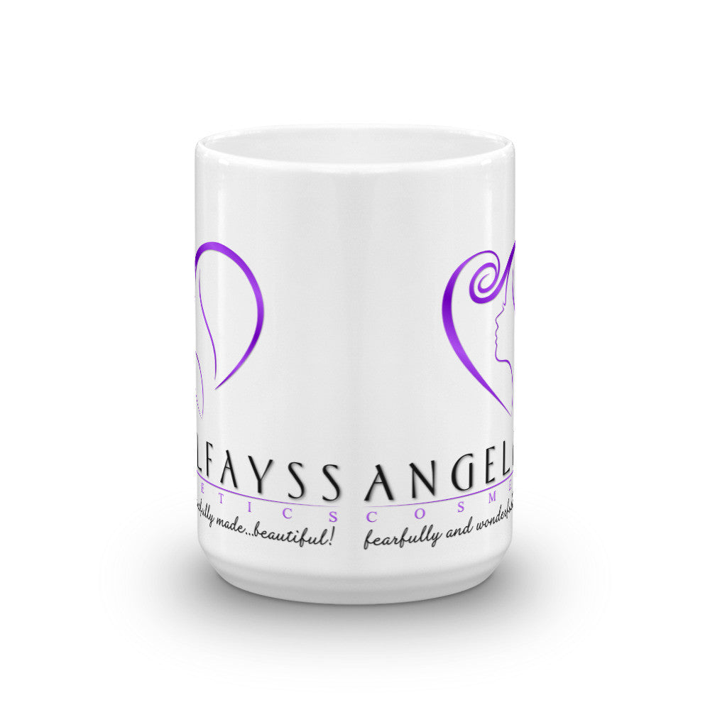 AngelFayss Cosmetics Purple Logo Mug