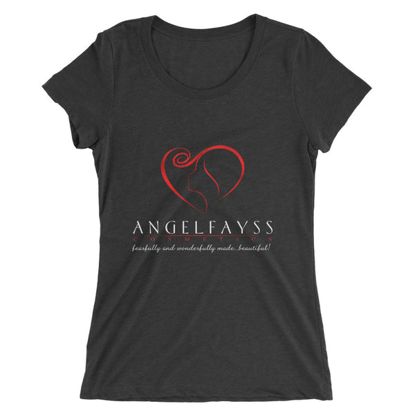 AngelFayss Cosmetics Red Logo Form Fitting Ladies' T-shirt