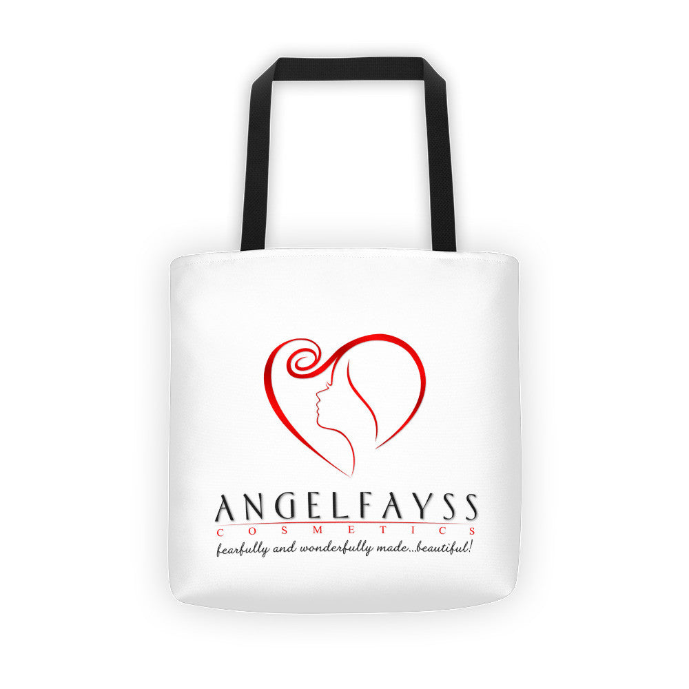 AngelFayss Cosmetics Red Logo Tote Bag