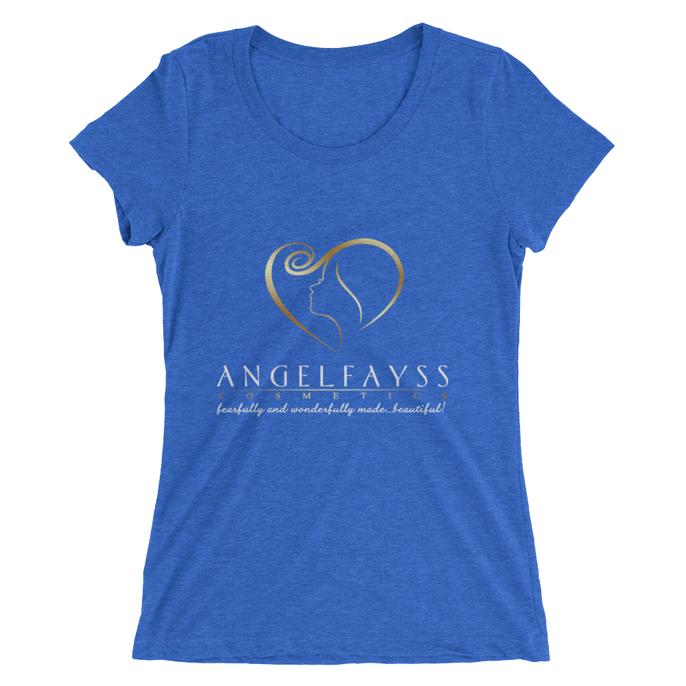 AngelFayss Cosmetics Gold Logo Form Fitting Ladies' T-shirt
