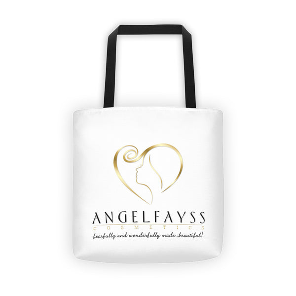 AngelFayss Cosmetics Gold Logo Tote Bag