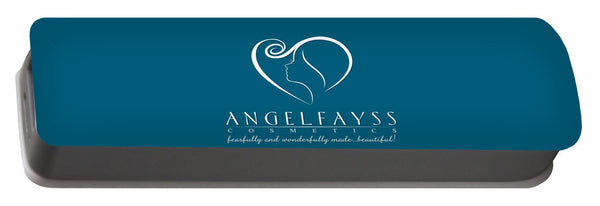 White & Aqua AngelFayss Portable Battery Charger