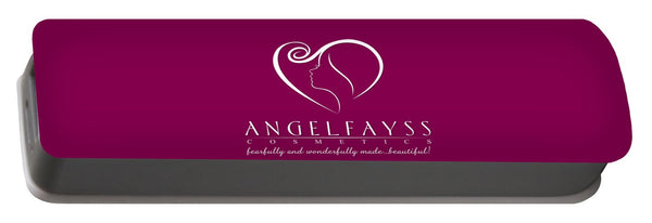 White & Magenta AngelFayss Portable Battery Charger