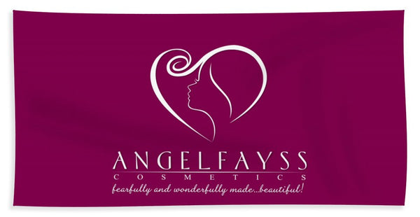 White & Magenta AngelFayss Beach Towel