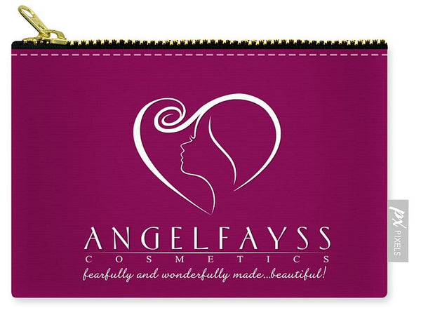 White & Magenta AngelFayss Carry-All Pouch