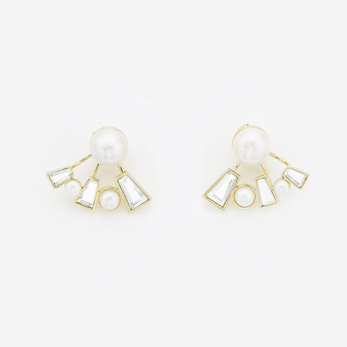 Angel Dust Baguette Mirror Front-Back Earrings