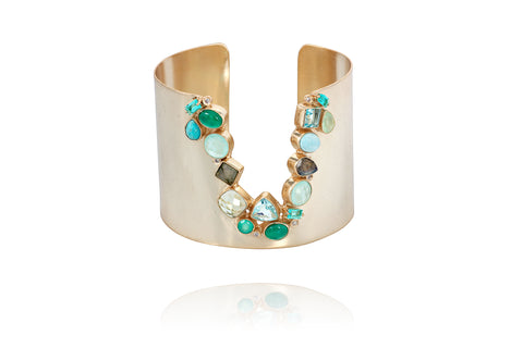 Gold/Turquoise cuff