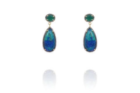 Azurite drop earrings
