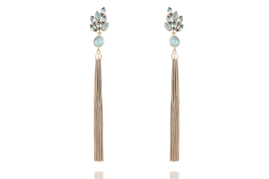 Hydro green amethyst earrings