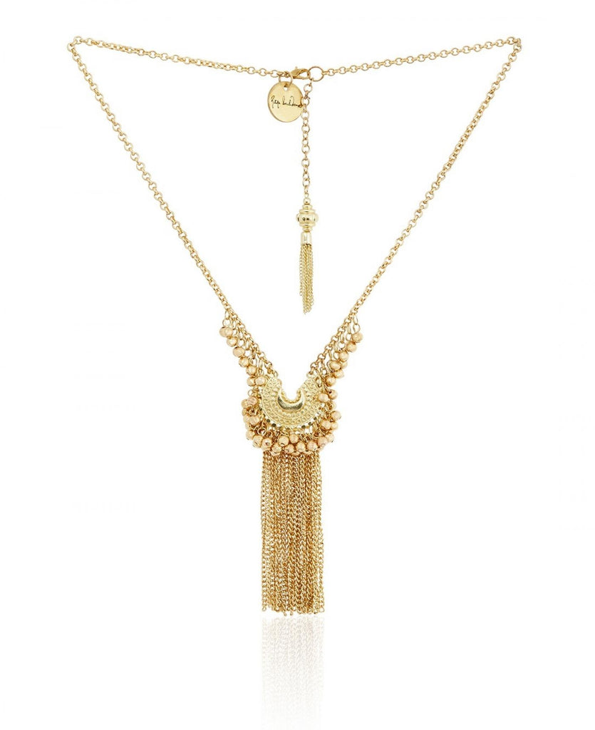 Gold ghungroo necklace