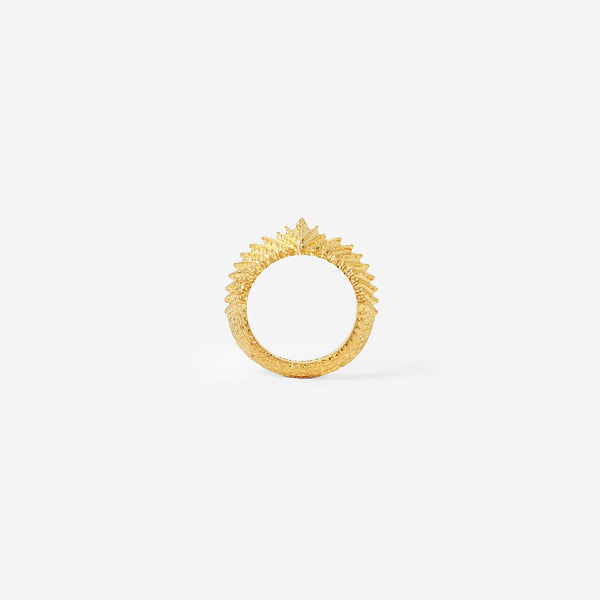 Origami Gold Folded Midi Ring