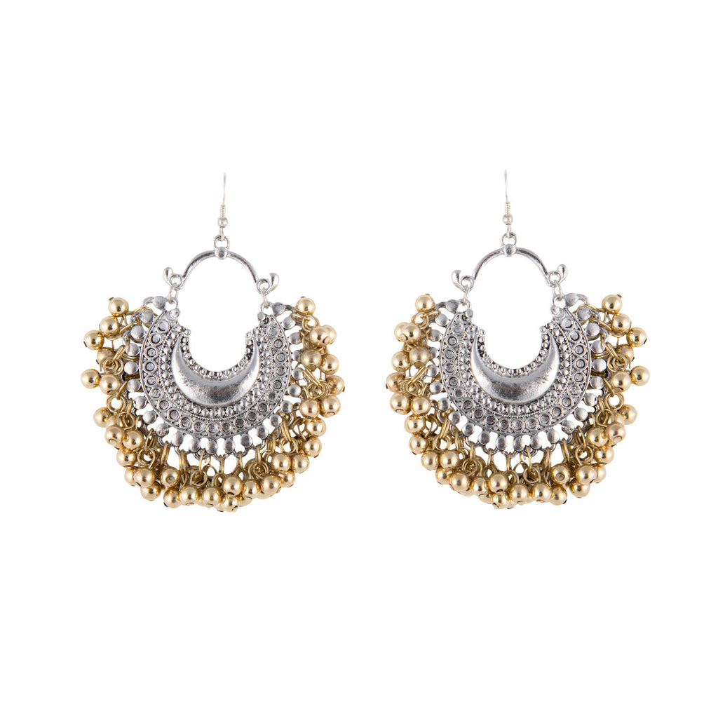 Crescent Ghungroo Earrings