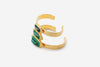 Green Malachite Croc Petite Power Cuff-Medium
