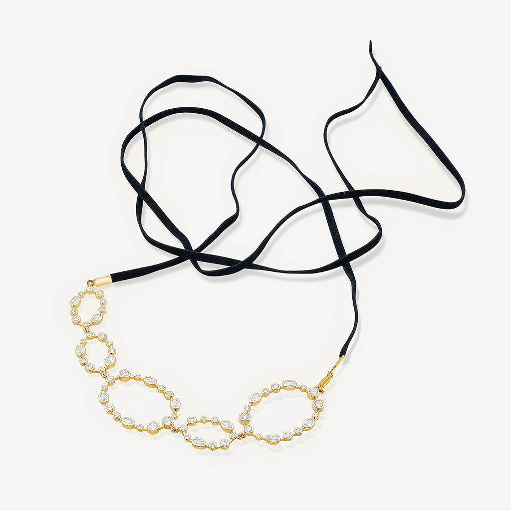 Celeste Oval Suede Choker Necklace