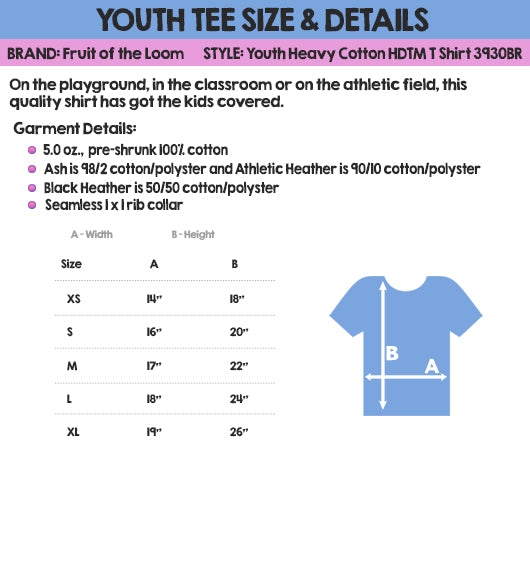 MisoPunny Youth Tee Size & Details