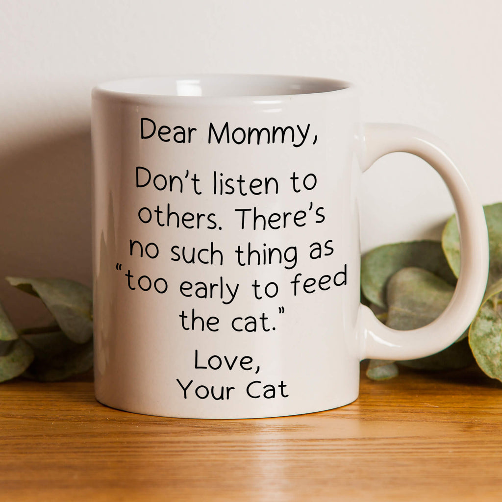 Too Early To Feed - Personalized Cat Mug - MisoPunny