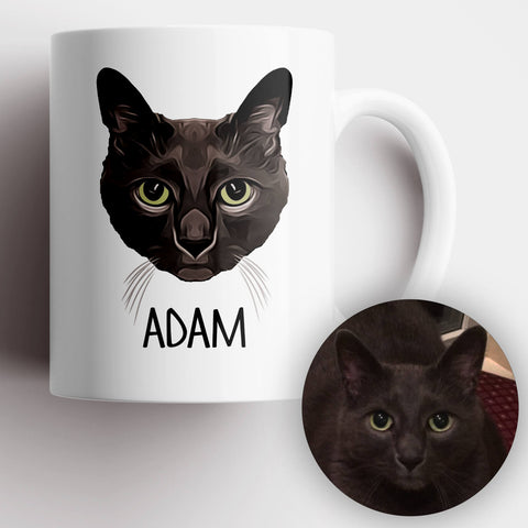 Cat Photo Illustration Mug - MisoPunny